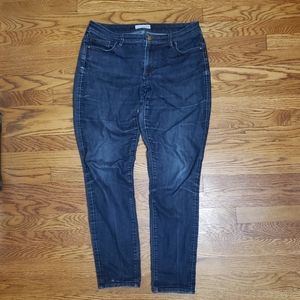 LOFT, curvy skinny jeans, size 10